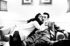 Elizabeth Taylor & Montgomery Clift on the set of 'Raintree County' photographed by Bob Willoughby, 1957.
