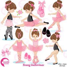 Ballerina clipart Ballet clipart pink ballerina girl