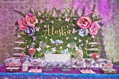 Celebrating a birthday? Kara's Party Ideas presents an Enchanted Garden Birthday Party filled with inspiration for Garden Theme Birthday, Fairy Birthday Party, Birthday Parties, 15th Birthday, Birthday Ideas, Girl Birthday, Enchanted Forest Party, Enchanted Garden, Butterfly Garden Party
