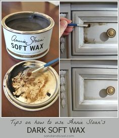 Tips on how to use Annie Sloan's Dark Soft Wax | By Sand & Sisal