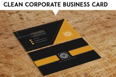 Clean Corporate Business Card by MAGOO STUDIO on Creative Market