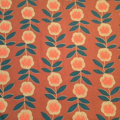 Hokkoh - Fine Vines (Dusty Coral)│Cotton Canvas