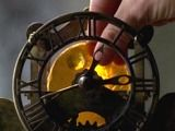The Clock    The Clock that Donato repairs that tells time, but with the Golden Sun put inside it, it also tells the latitude and longitude of another Rambaldi find, the Journal.  From Two Evil Monks site - #Alias - Rambaldi