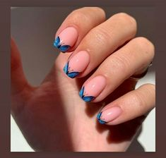 Butterfly Nail Designs, Butterfly Nail Art, Cute Nail Art Designs, Acrylic Nail Designs, Chic Nail Designs, Short Nail Designs, Blue Butterfly, Chic Nails, Stylish Nails