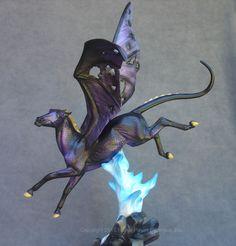 "Leisure Custom Dapple Purple Cantrell ""Nightmare"" Resin Model Fantasy Horse LSQ"