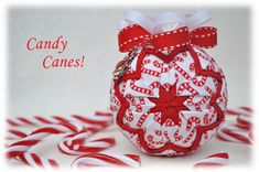 Candy Canes Ornament Front View