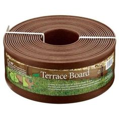 Master Mark Terrace Board 5 in. x 40 ft. Brown Landscape Lawn Edging with Stakes-95340 - The Home Depot