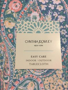 For USE Outdoor. Fabric is untreated and subject to fading. Cynthia Rowley, Paisley, Outdoor Tablecloth, Holi, Indoor Outdoor, Fabric, Prints, Ebay, Beautiful