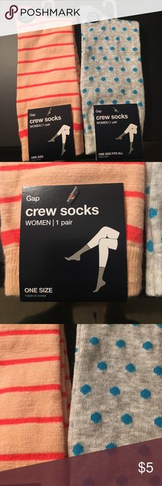 Gap Crew Sock Bundle Brand new with tags! Non Smoking and pet free home. GAP Accessories Hosiery & Socks
