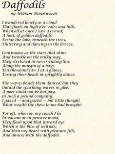 Reminds me of my beautiful sister emily.  William Wordsworth Poems   William Wordsworth