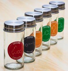 Chemical Compound Herb & Spice Labels - compoundchem.com