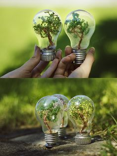 Mini trees by beads-poet.deviantart.com on @deviantART