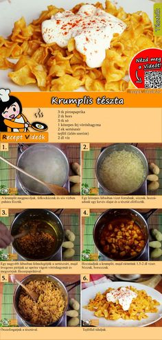 Krumplis tészta - You Tube Vegetarian Recipes, Cooking Recipes, Healthy Recipes, Look And Cook, Good Food, Yummy Food, Hungarian Recipes, Daily Meals, Winter Food