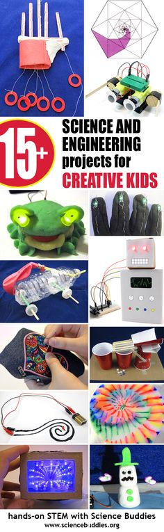 Creative #science and #engineering projects for kids who like to #make #create #DIY. [Science Buddies, http://www.sciencebuddies.org/blog/2016/06/creative-science-and-engineering-for-kids.php?from=Pinterest] #STEAM #STEM #scienceproject