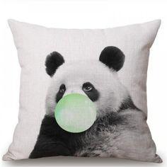 Διακοσμητικό κάλυμμα μαξιλαριού πάντα Panda Bear, Animals, Animales, Animaux, Panda, Animal, Animais, Panda Bears, Pandas