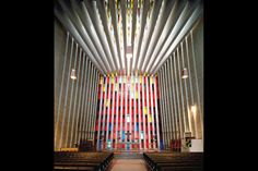 kristiansund kirke - love this church, where the altar is just a whole wall of colors