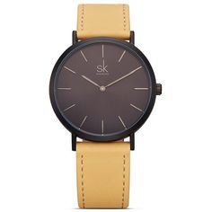 Cool Watches: Discount Up to Shengke Brand New Fashion Simple Style Top Famous Luxury Brand Quartz Watch Women Casual Leather Watches Reloj Mujer Hot Clock Cool Watches, Wrist Watches, Women's Watches, Ladies Watches, Cheap Watches, Leather Wristbands, Leather Box, Brown Leather, Fashion Watches
