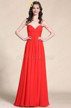 Strapless Sweetheart Red Evening Dress Bridesmaid Dress (07153802) #edressit #bridesmaid_dress #evening_dress #fashion #wedding