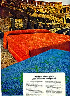 vintage sears bedspread | Sears Roebuck & Co. ad BELLISSIMO BEDSPREADS (Image1)