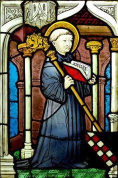 Saint Bernard de Fontaines - Vitrail du XIIe siècle