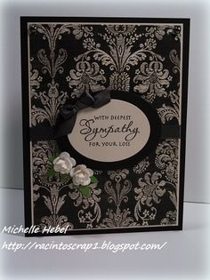very elegant sympathy card - there isn't any information about what product…