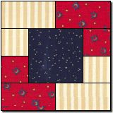 Squares within squares 2 free quilt block pattern
