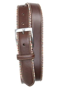 Paul Smith Stripe Trim Leather Belt available at #Nordstrom