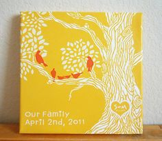 so adorable...Custom Tree Canvas Print 10x10 #canvas #painting #family $65.00