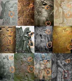 Weltweit werden Abbildungen von Wesen gefunden die eine Art Handtasche tragen. Die Ältesten sind ca. 10000 Jahre alt aus dem Zeitalter der Sumerer. / There are pictures of beings found around the world wearing a kind of handbag. The elders are about 10,000 years old from the age of the Sumerians.