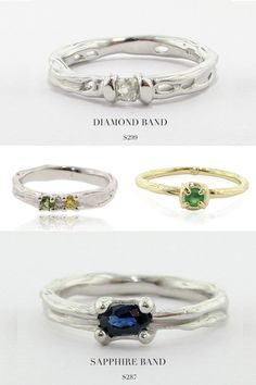 affordable + unique wedding bands http://ruffledblog.com/find-handcrafted-engagement-rings-for-under-1000-with-wexford-jewelers