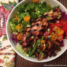 Teriyaki Chicken Salad #glutenfree #caseinfree