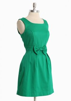 Super cute! I love the color. If I ever made this I would make it with cap sleeves and a longer skirt :)