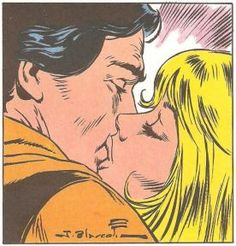 Capitan Trueno - kisses Sigrid Almost like Pop Art, though it is from Spain!