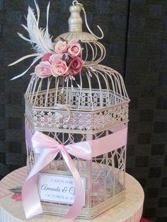 Victorian Champagne #WeddingBirdcageCardHolder   TheWeddingDecorPlace - Wedding on ArtFire