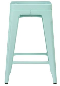 blue counter stool - kitchen