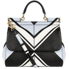 Dolce & Gabbana Medium Sicily Geo Top Handle Bag ($2,030) ❤ liked on Polyvore featuring bags, handbags, tote bags, black structured handbag, structured tote, handbags totes, top handle handbags and tote purse