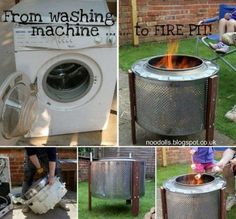 Washer Drum Fire Pit Ideas Tutorial A Super Easy DIY