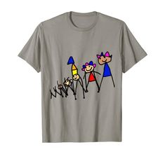 Amazon.com: King of the Family Cute Drawing Father T-Shirt: Clothing Kids Boxing, Shirt Price, Branded T Shirts, Cute Drawings, New Books, Childrens Books, Fashion Brands, Kids Outfits, Father