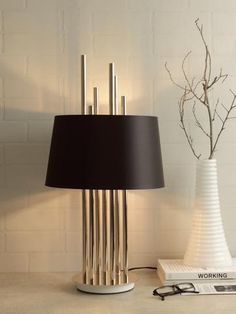 Mildred Black Gold Table Lamp | Buy Luxury Table Lamps Online India - Contemporary Table Lamp which is a versatile decor element in your interior space. The luxurious black gold table lamp renders an elegant appeal to your home decor and adds a luxurious charm to modern interiors. Decoration Lights For Home, Light Decorations, Elegant Home Decor, Elegant Homes, Luxury Lighting, Cool Lighting, A Table, Gold Table, Luxury Table Lamps
