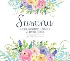 https://www.etsy.com/mx/listing/253032694/flores-en-acuarela-clipart-png-pintadas #watercolordesign #etsyseller #FloralDesign #flowers #flores #prints #clipart #nursery #art