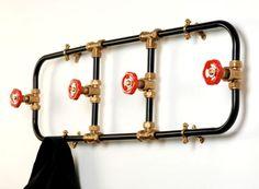 pipes used for coat rack...great industrial look cranenbroek