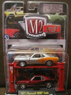 1971 Plymouth Hemi Cuda M2 Machines Auto Lift Diecast 1 64 Car | eBay