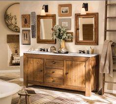 rustic luxe bathroom   Pottery Barn