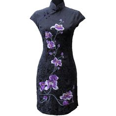 Robe chinoise noire