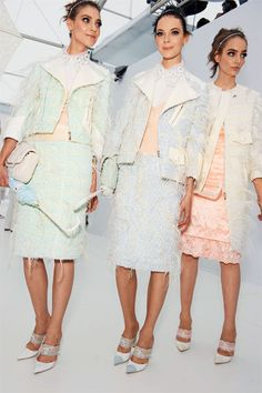 Backstage at Louis Vuitton S/S 12.