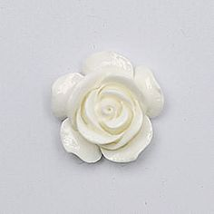 Large Ivory resin flower for diy wedding invitations, card making and crafts
