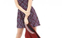 Plaid Print Pleated Shirtdress As Casual And Formal Dress Print Pleated Shirtdress Original