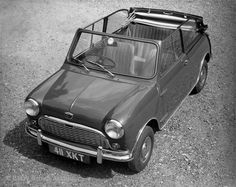 Raise the roof! This is the first Mini convertible, produced by Crayford Engineering in Westerham, England.     Picture © BMW Group Archive: Austin Mini 850 Super-de-Luxe Cabriolet