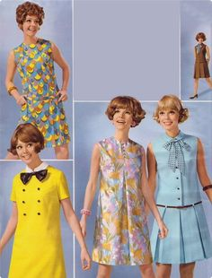 1960s shift dresses.