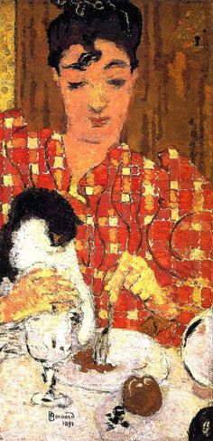 Pierre Bonnard, 'The Checkered Blouse' (1892) an early work